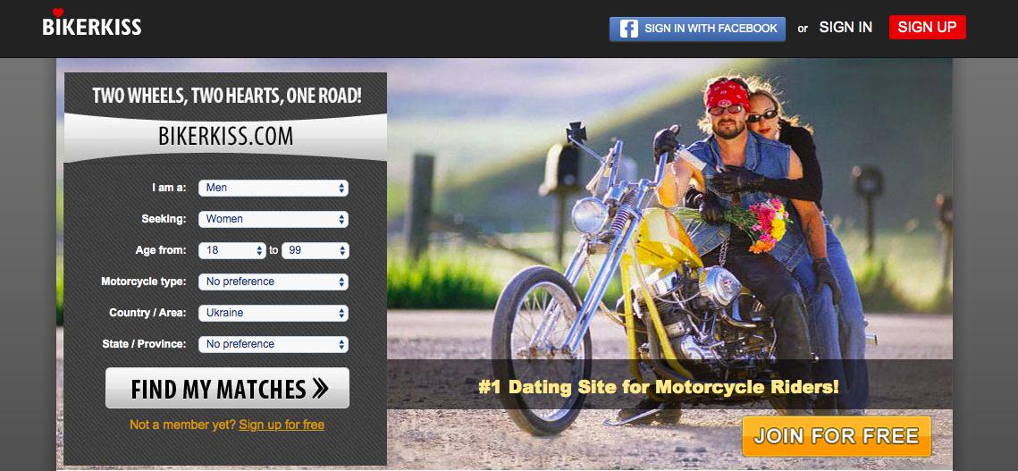 BikerKiss main page