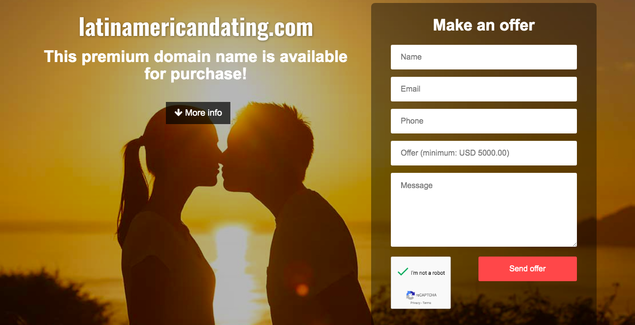 LatinAmericanDating main page