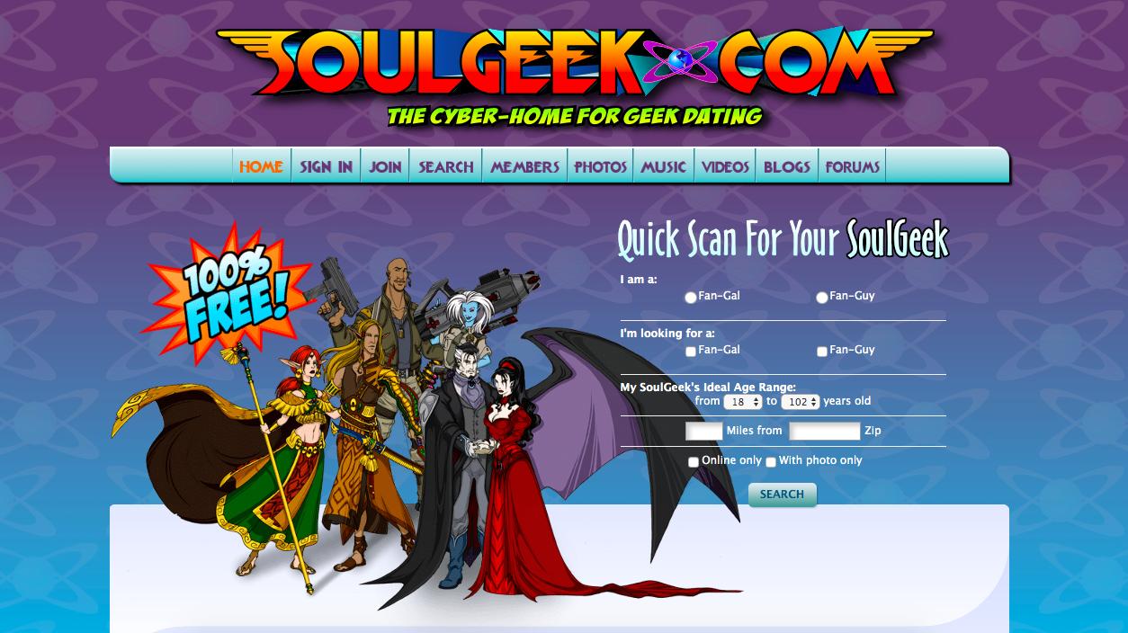 SoulGeek main page