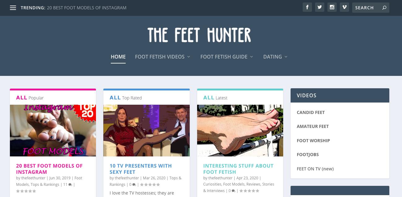 TheFeetHunter main page