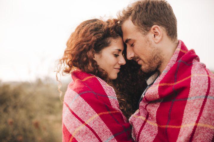 Spiritual happy couple