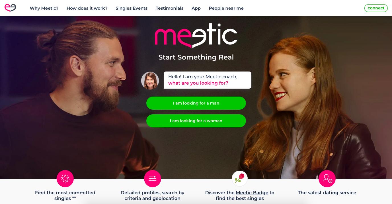 Meetic.es main page